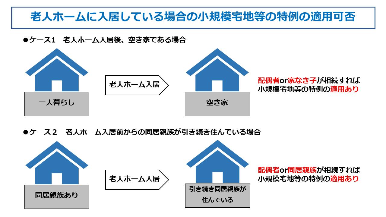 老人ホーム入居小規模宅地等のイラスト1
